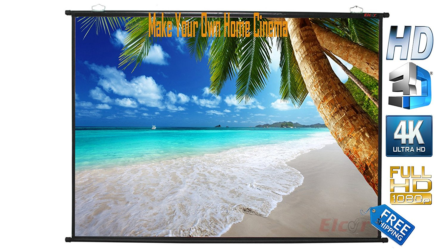 Elcor Pro Map Type Projector Screen