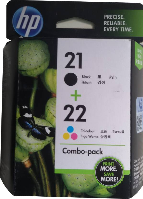 HP 21/22 Combo Pack Multicolor Ink Cartridge