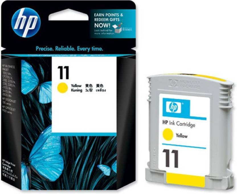 HP 11 Ink C4838A Single Color Ink (Yellow)