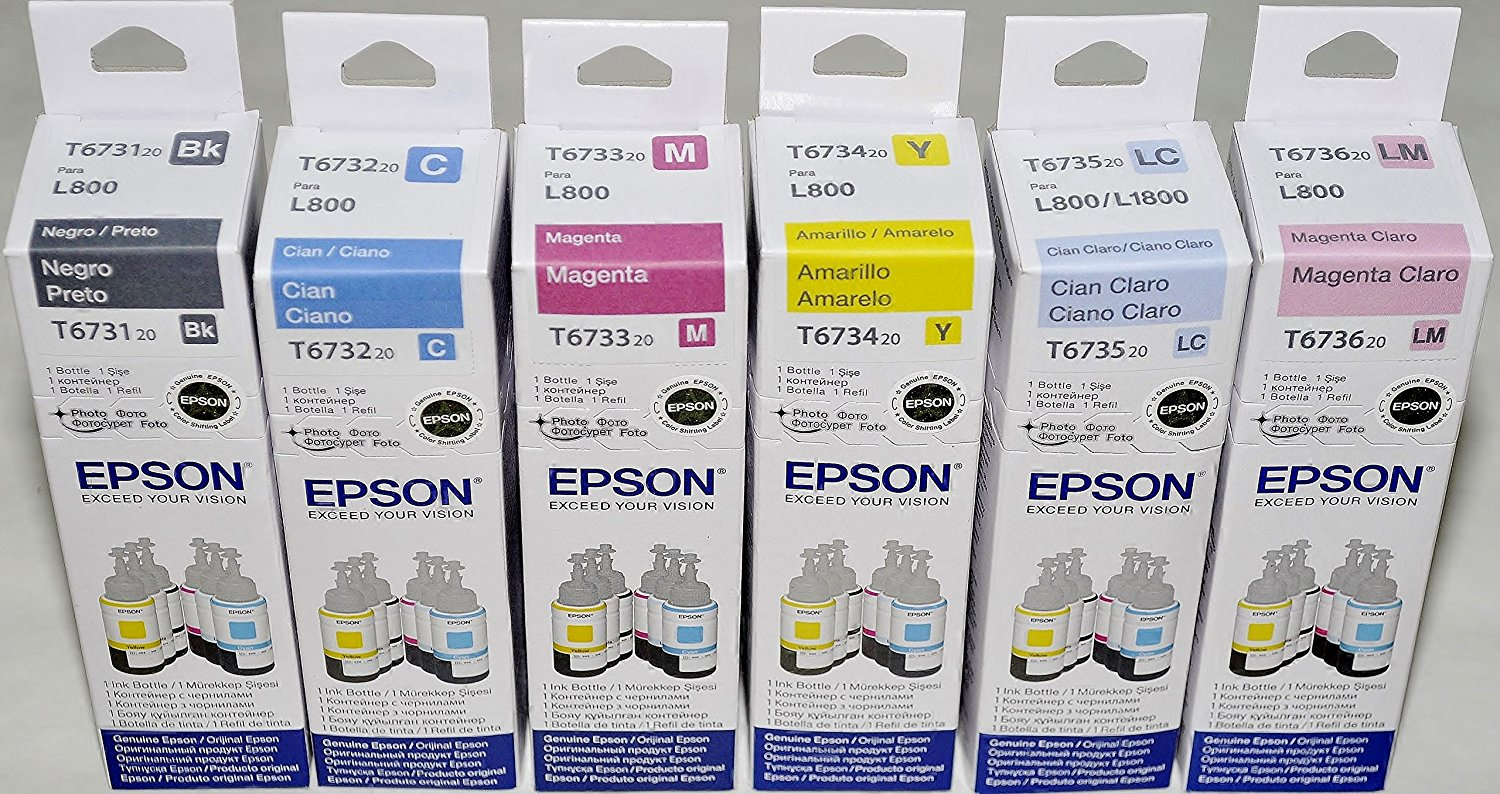 EPSON T673 6-Color Refill Ink Set For L800 / L1800
