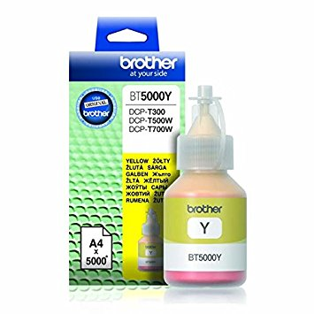 Brother BT5000Y Genuine Ink Bottle Yellow colour