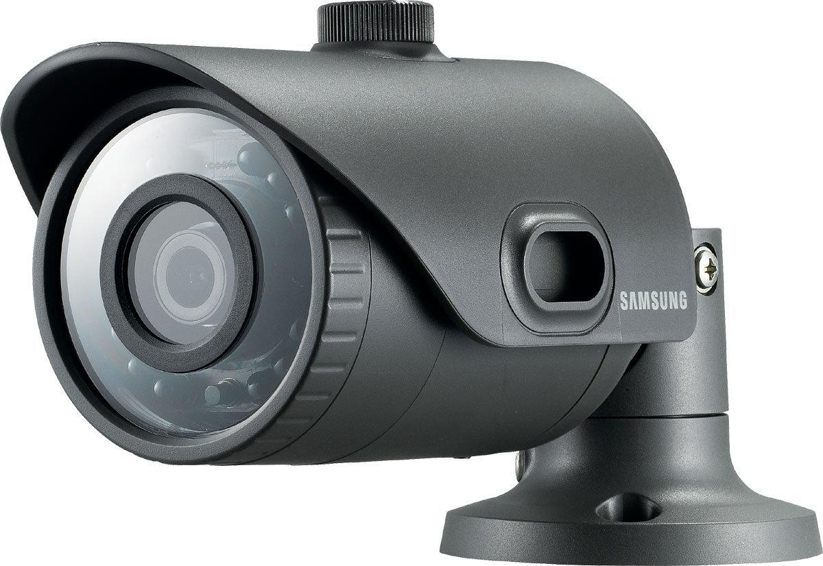 Samsung SNO-L6013R IP CCTV Bullet Camera (Black)