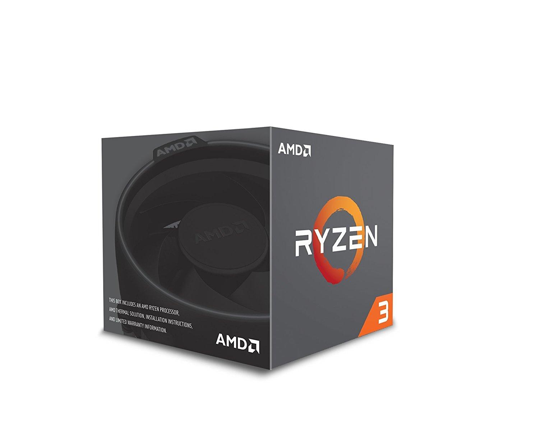 AMD Ryzen 3 1200 Desktop Processor with Wraith Stealth Cooler (YD1200BBAEBOX)