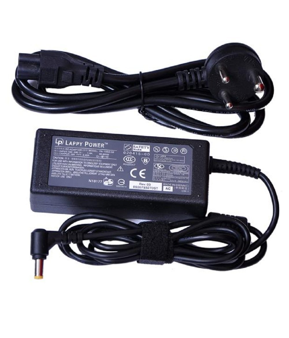 Lappy Power AR6500 19V 3.42A Laptop Power Adapter for 5738/5738g/5738z/5740/5735z/4830t/5745d/5745g/5630 Series
