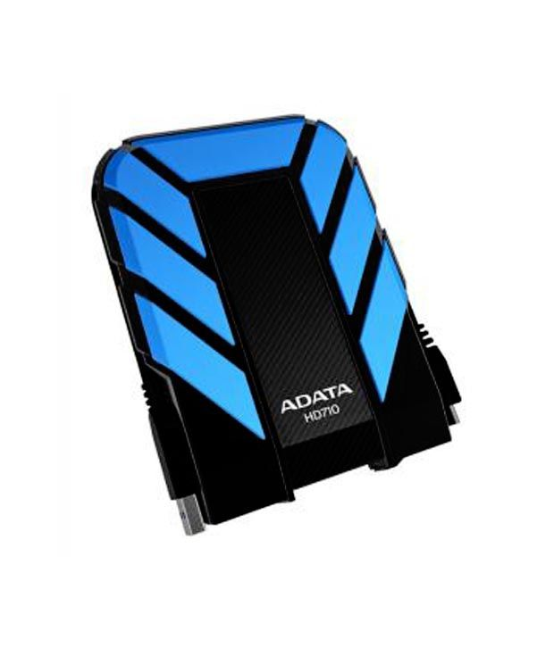ADATA DashDrive HD710 1 TB External Hard Disk (Black-Blue)