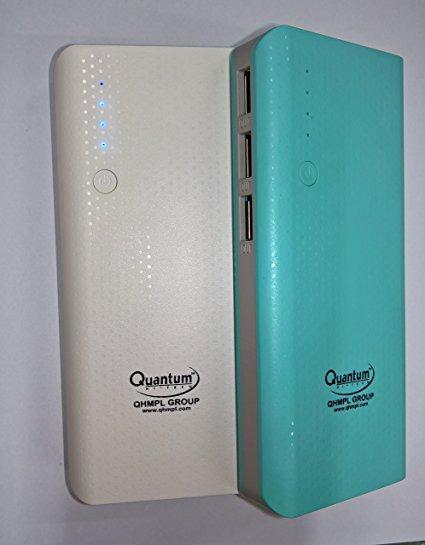 QUANTUM QHMPL QHM-12500 mAH 3 USB Port Power Bank (Colour May Vary)