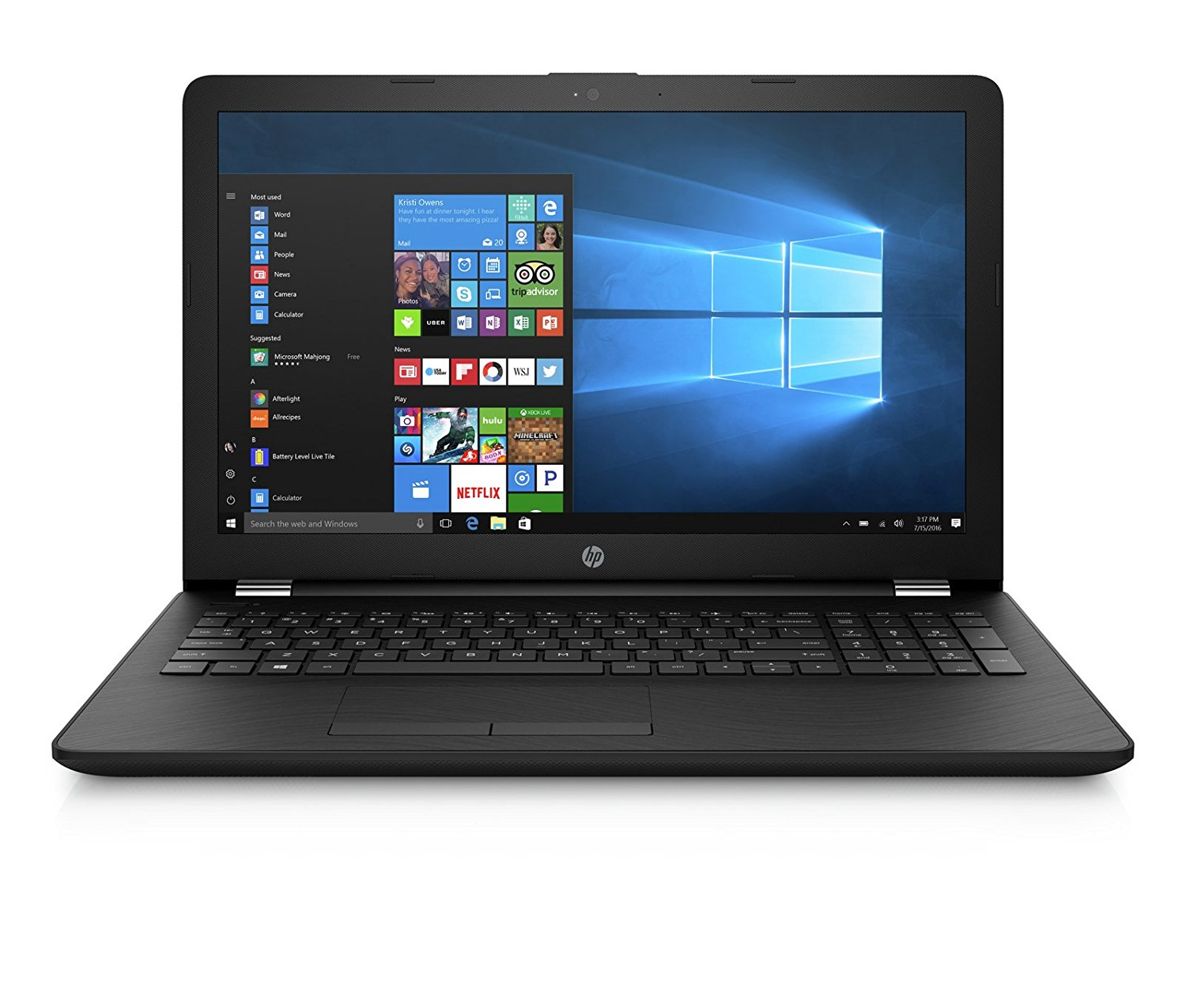 HP 15-BS661TX Portable FHD 15.6 Inch Laptop (6th Gen Intel Core i3 Processor i3-6006U/8GB/1TB/Windows 10 Home 64-bit/Microsoft Office Home & Student 2016/AMD Radeon 520 Dedicated Graphics) with Anti Glare and Fast Charge