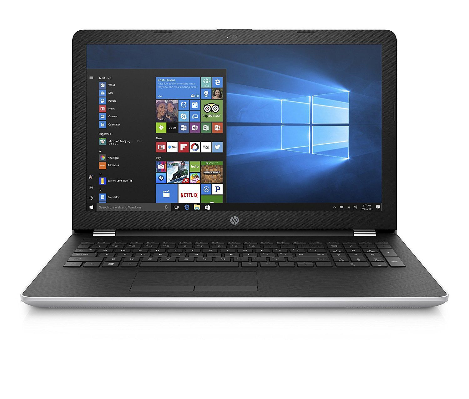 HP 15-BS638TU Portable FHD15.6 Inch Laptop (7th Gen Intel Core i3 Processor i3-7130U/4GB/1TB/Windows 10 Home 64-bit/Microsoft Office Home & Student 2016/Intel HD Graphics 620) with Anti Glare