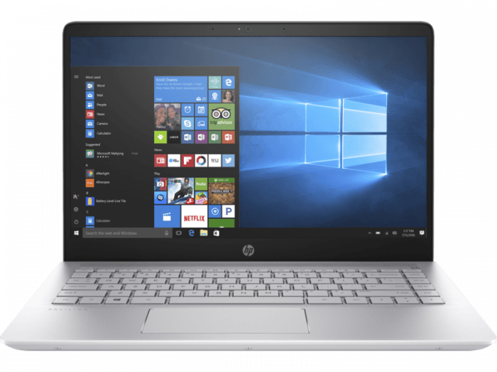 HP Pavilion -14-bf175tx Laptop, Intel core i5 processor 8520U@1.8Ghz / 8GB RAM/1TB HDD/2GB Graphics/Windows 10/ Silver colour/1.54Kgs.