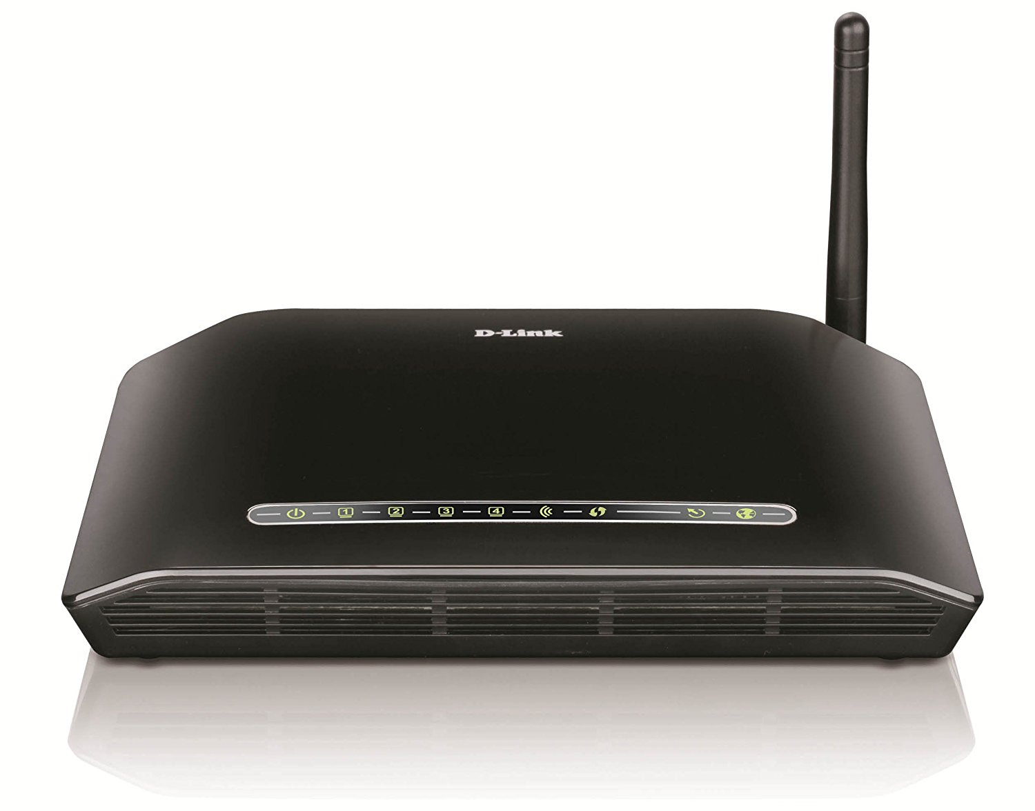 D-Link DSL-2730U Wireless-N 150 ADSL2+ 4-Port Router (Black)