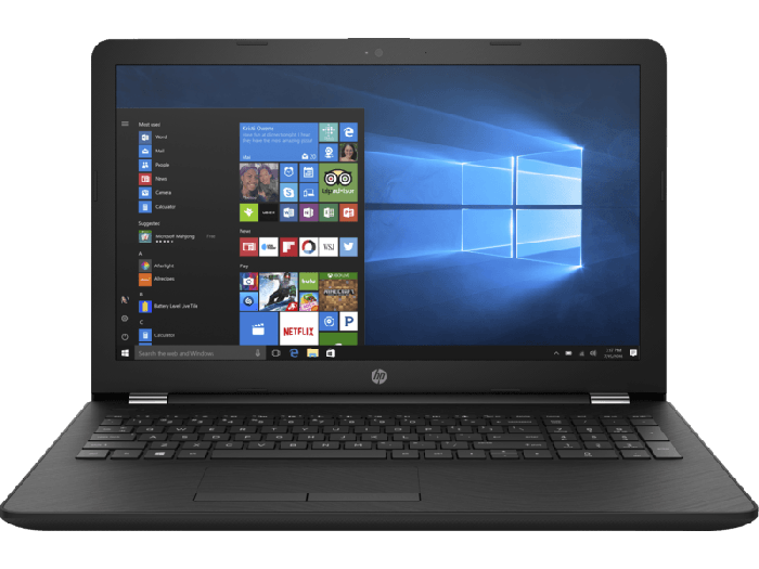 HP 15-bw531au 15.6-inch HD Laptop (AMD A6-9220/4GB RAM/1TB HDD/Windows 10/AMD Radeon R2 Graphics), Jet Black