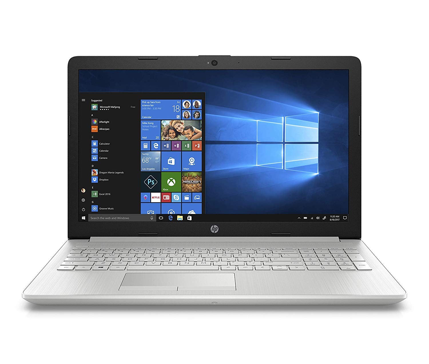 HP 15 DR0006TX 2018 15.6-inch Laptop (8th Gen i5-8250U/8GB/1TB/Windows 10 Home/Integrated Graphics), Natural Silver