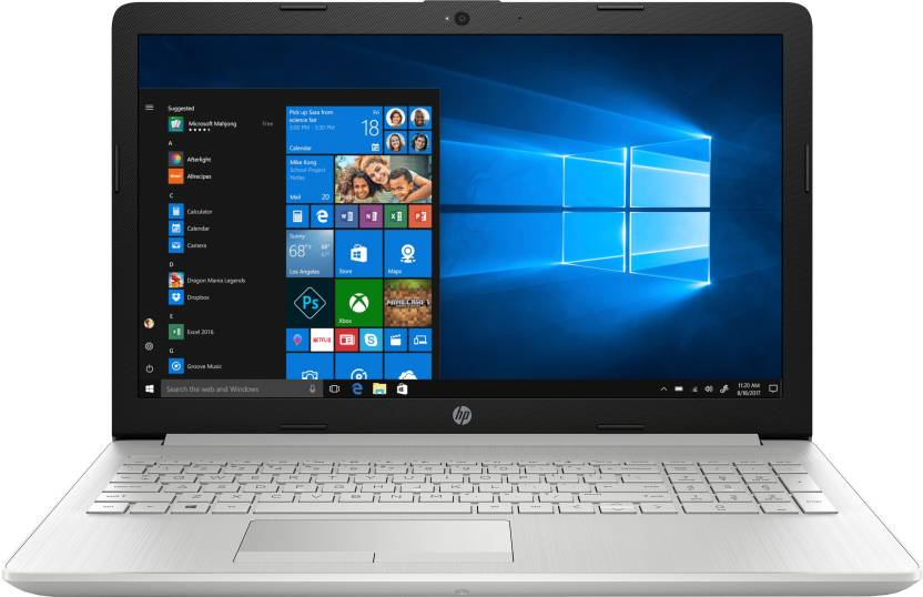 HP 15 Ryzen 3 Dual Core - (4 GB/1 TB HDD/Windows 10 Home) 15-db0186AU Laptop  (15.6 inch, Natural Silver, 1.77 kg, With MS Office)