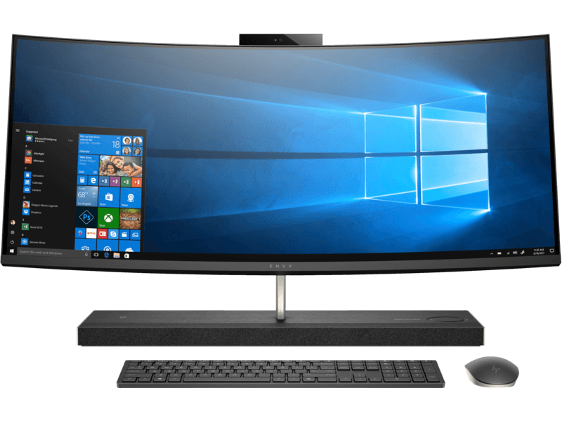 HP ENVY Curved All-in-One - 34-b152in i5+ 8400 Hexa Core	8TH	16GB	1 TB + 512 GB SSD 	WIN10 HOME	Wireless	Nvidia GTX 4 GB DDR5 1050 GFX  3 YEAR   Warranty