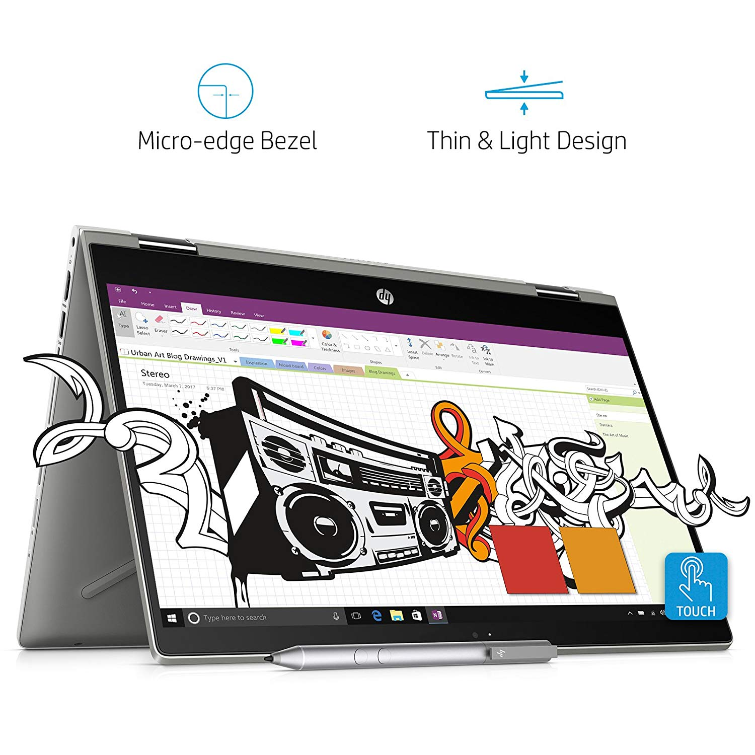 HP Pavilion x360 14-cd0050TX Convertible(8th Gen i3-8130U/4GB DDR4/1TB+8GB SSHD/NVIDIA 2GB Graphics/Win 10/FP Reader/MS Office H&S 2016) Natural Silver