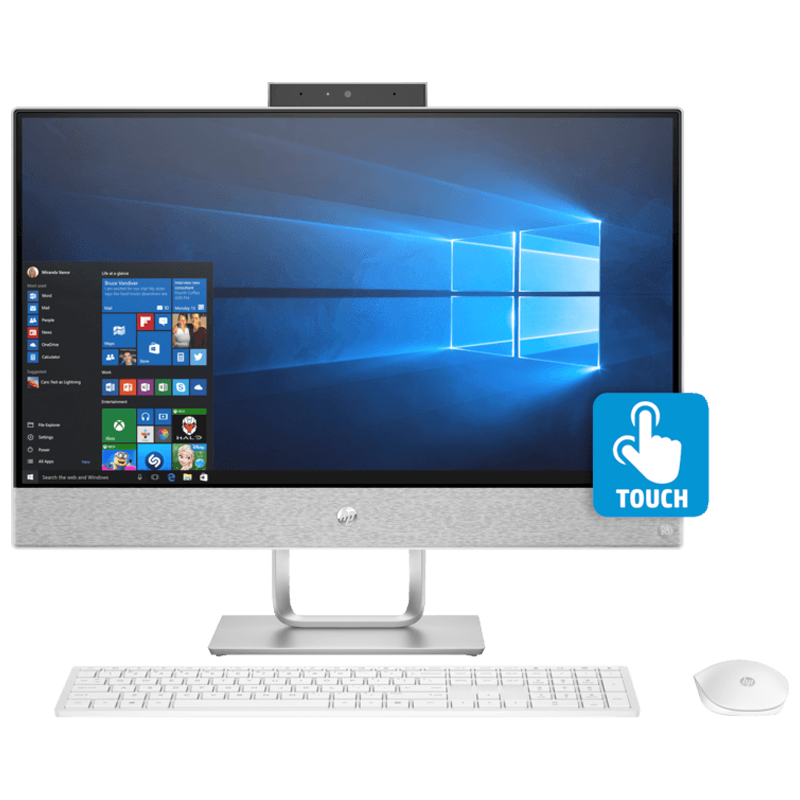 HP PAVILION ALL-IN-ONE-24-QA158IN CORE I5 8TH GEN WINDOWS 10 DESKTOP (8 GB, 1 TB HDD, 2 GB GRAPHICS, 60.96 CM, WHITE)