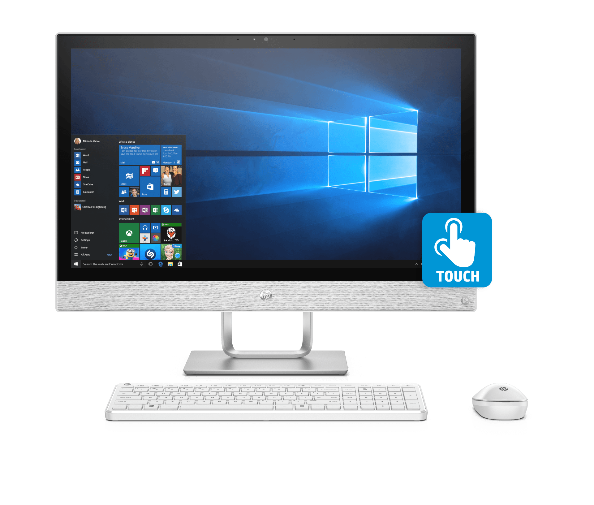 HP Pavilion All-in-One - 27-qa179in Touch i7 Hexa Core8TH 16 GB 2TB+128GB SSDWIN 10 WITH MS OFFICE Wireless 4 GB 3 YEAR Warranty