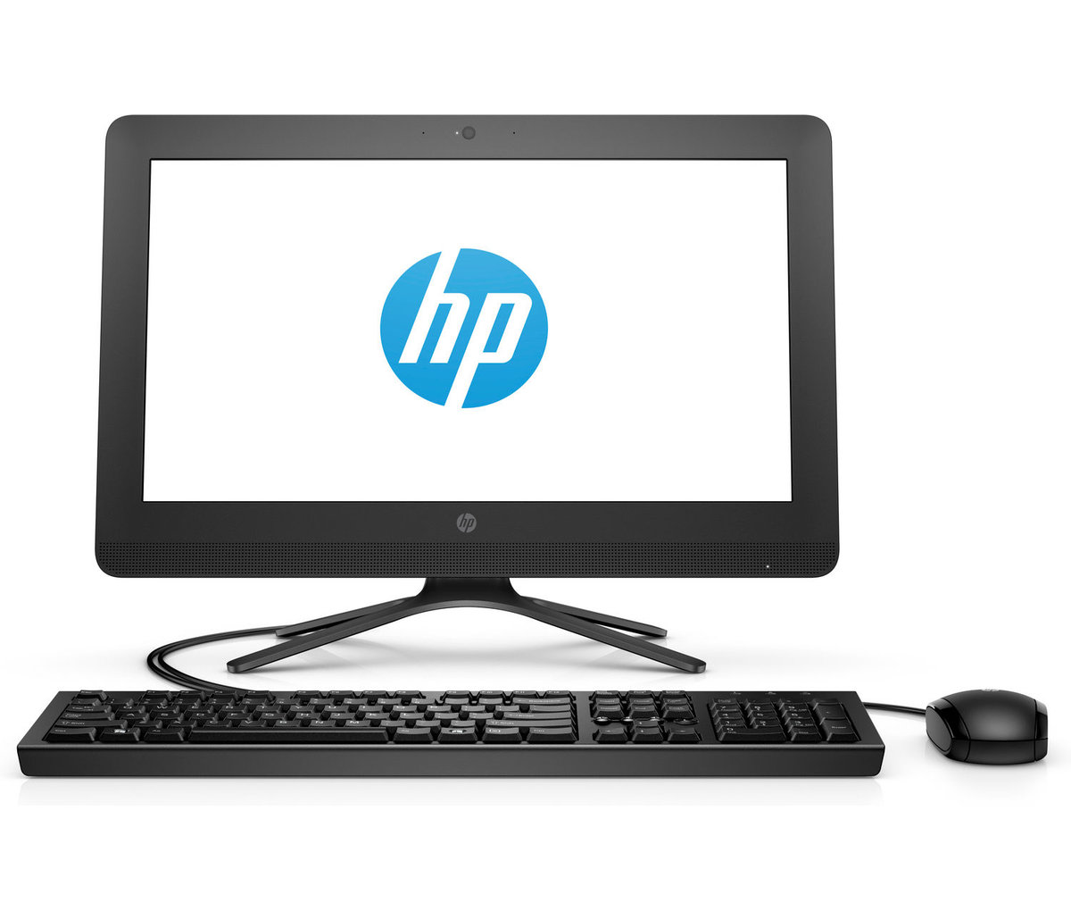 "HP 20-c416il 4GB HDD 1TB DOS 19.45"" FHD Black Wireless Desktop"