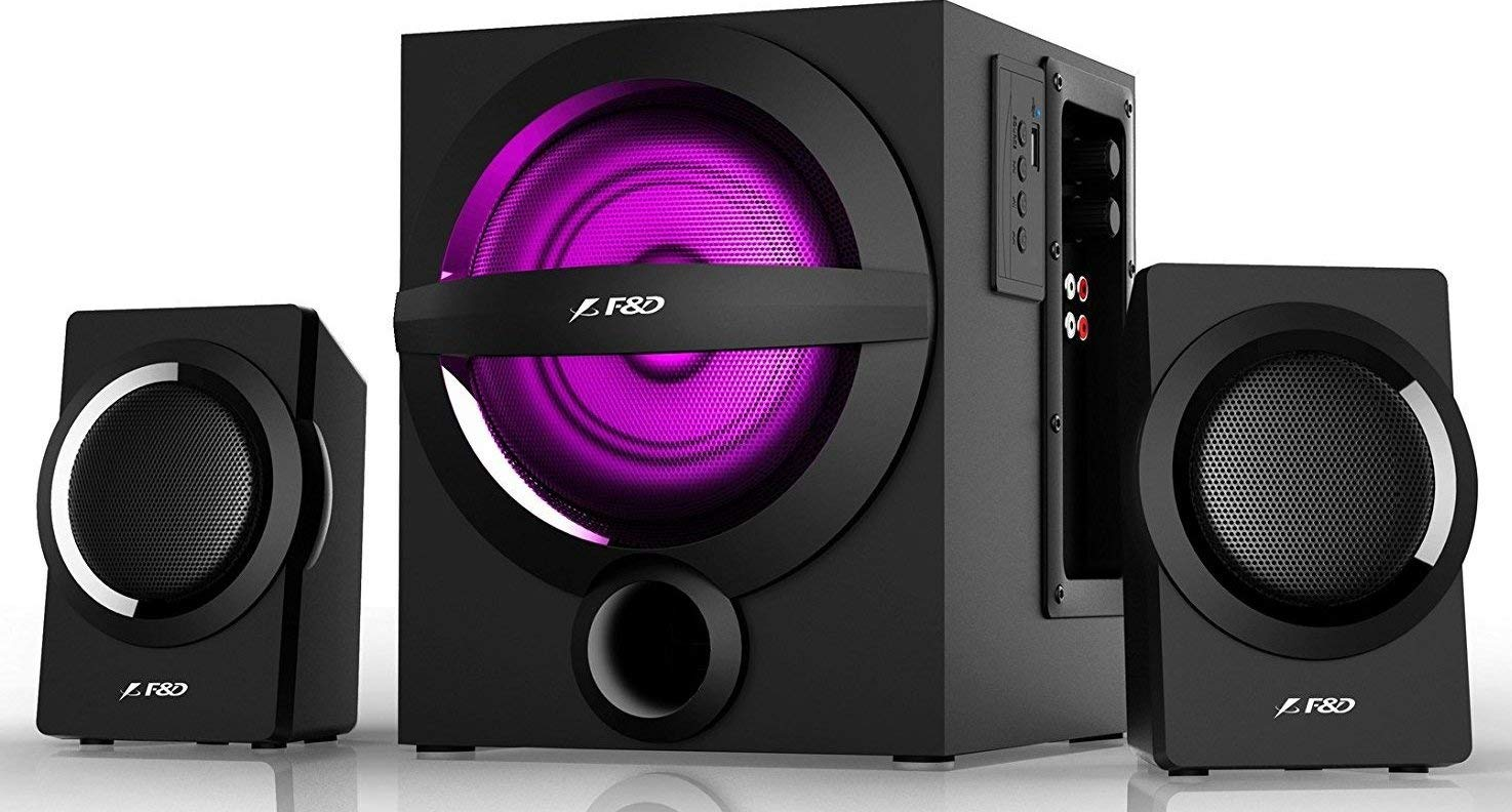FD A140X 2.1 Channel Multimedia Bluetooth Speakers (Black)